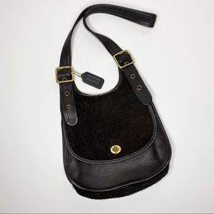 Coach Vintage Suede Leather Turnlock Purse